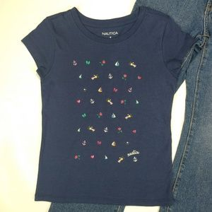 Girls Nautica Graphic Top